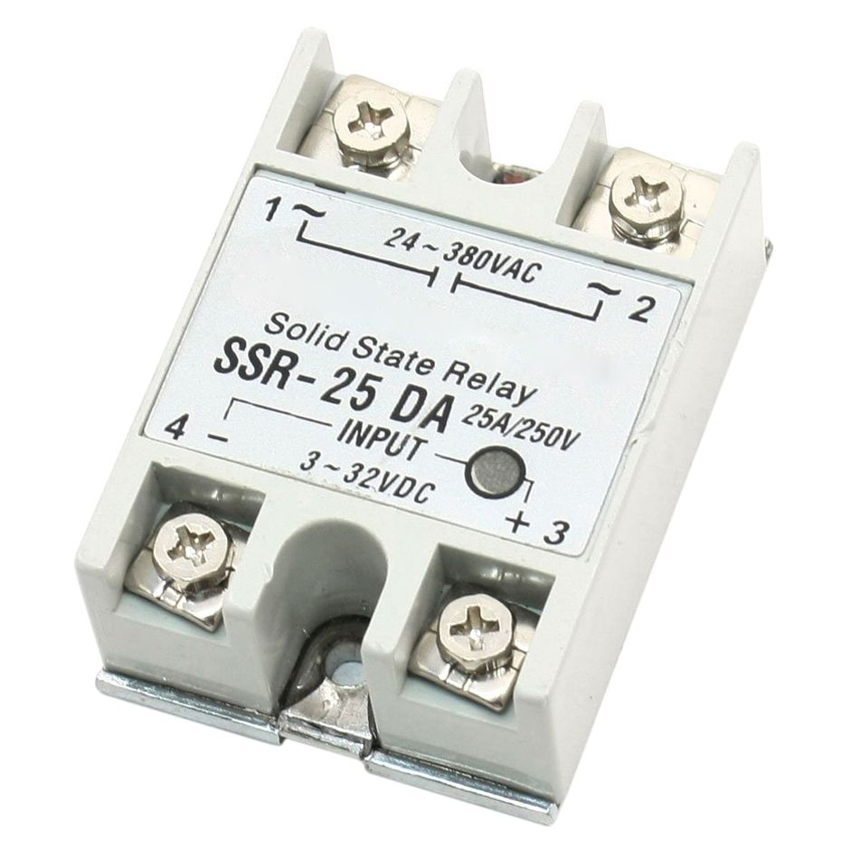 Single Phase Dc Control Ac Solid State Relay 25a Ssr 25 Da Type