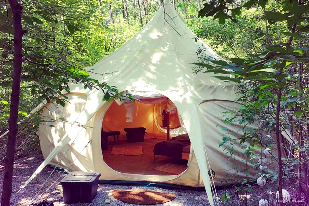 Idyllic Bell Tent Rentals for a Group Getaway near Toledo