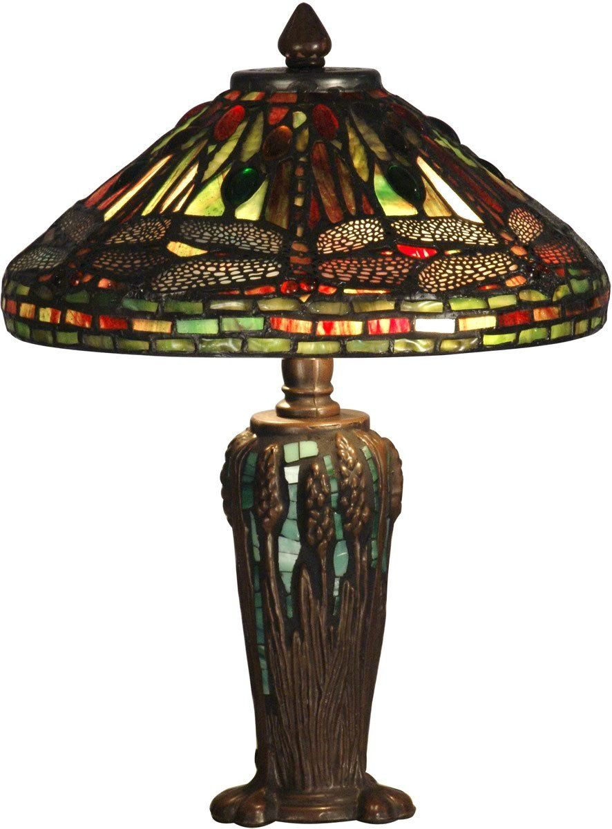 14 H 2 Light Dragonfly Tiffany Table Lamp Antique Bronze In 2021 Art Glass Table Lamp Table Lamp Lamp