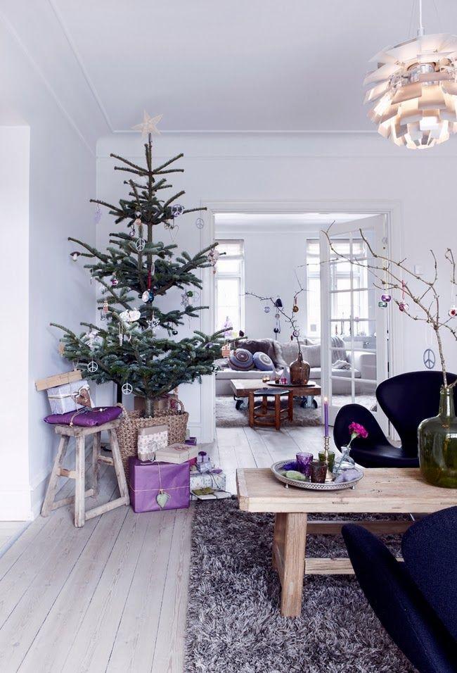 Una navidad sueca vestida de lilas y morados!