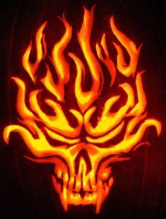 Fire Devil Halloween Pumpkin Carving Halloween Pumpkins