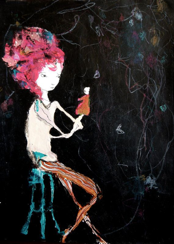 Girl illustration - Small Moments  - 5x7 art print