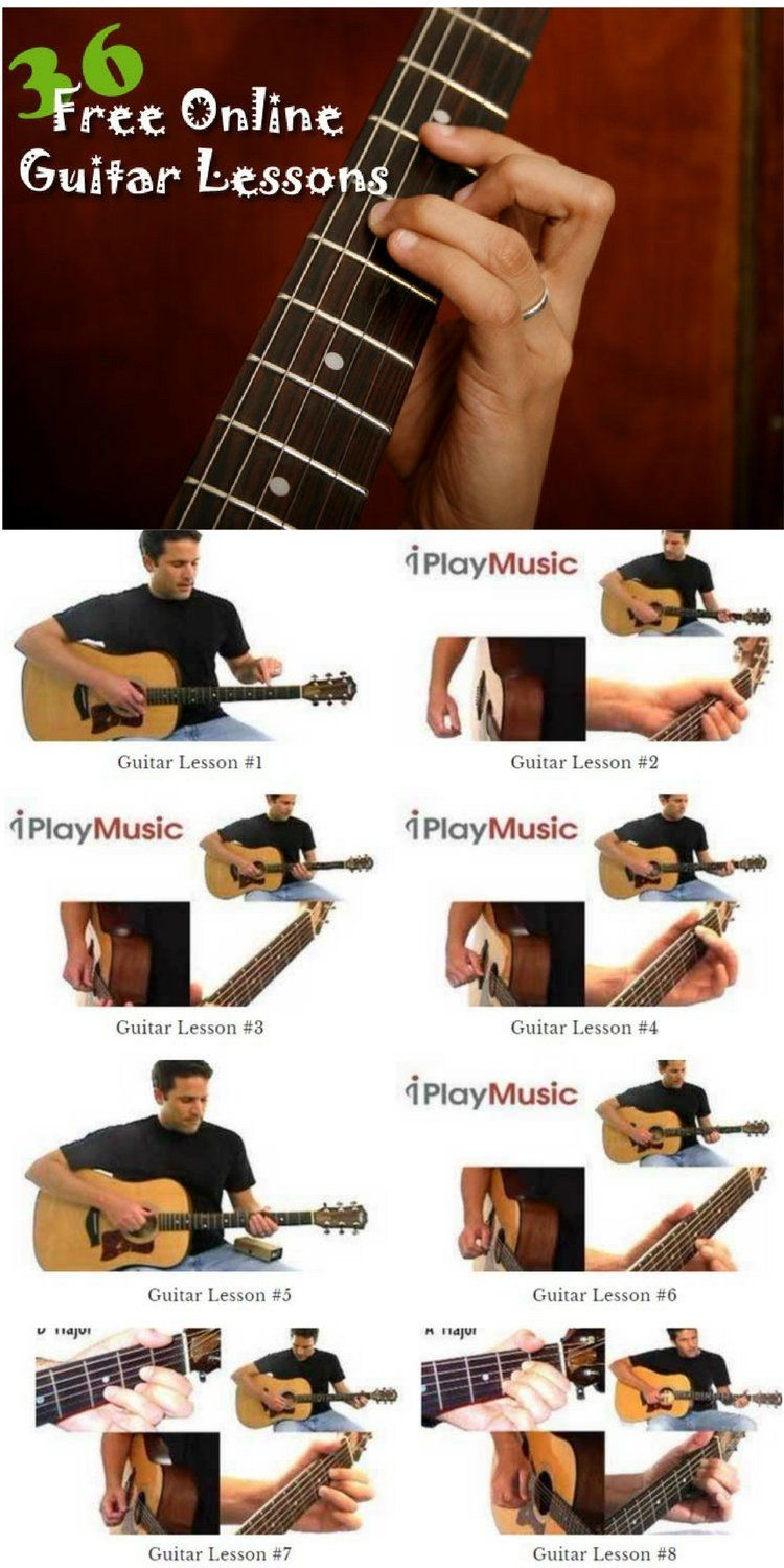 36 Guitar Lessons For Beginners Free Online Guitar Lessons Online Guitar Lessons Guitar Lessons For Kids