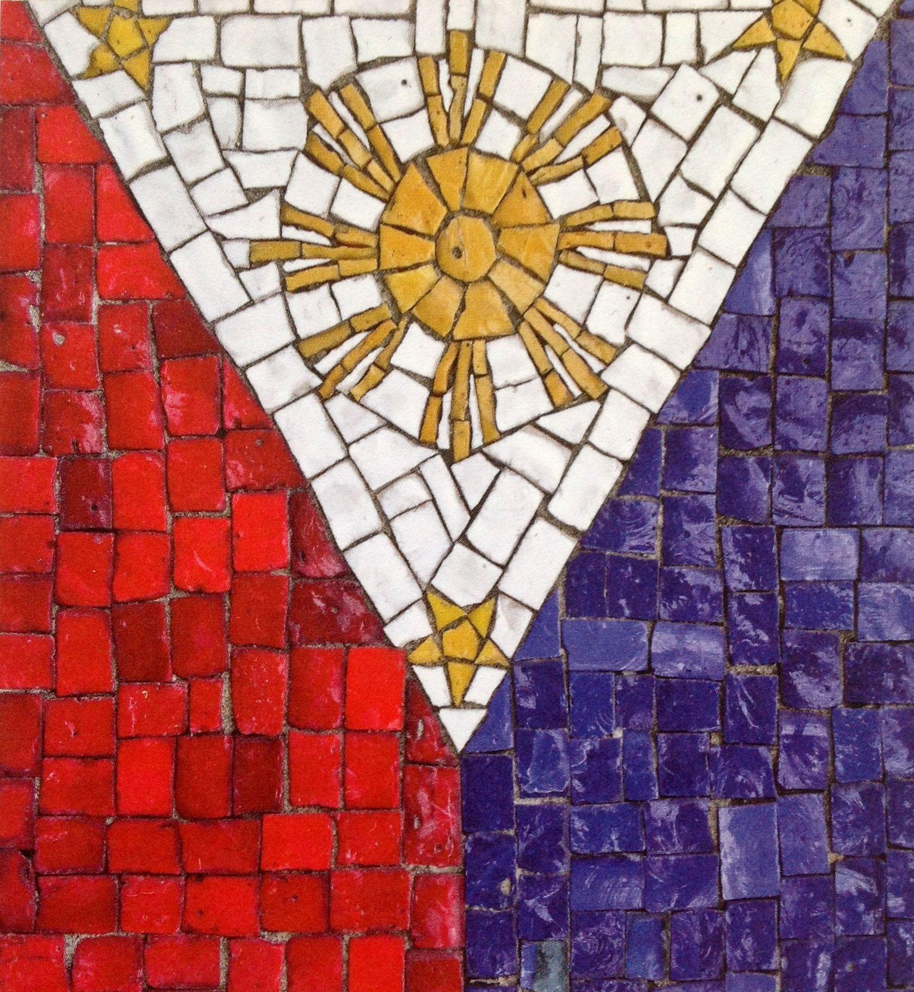 Philippine flag mosaic filipiniana pinterest philippines and philippine flag mosaic biocorpaavc Choice Image