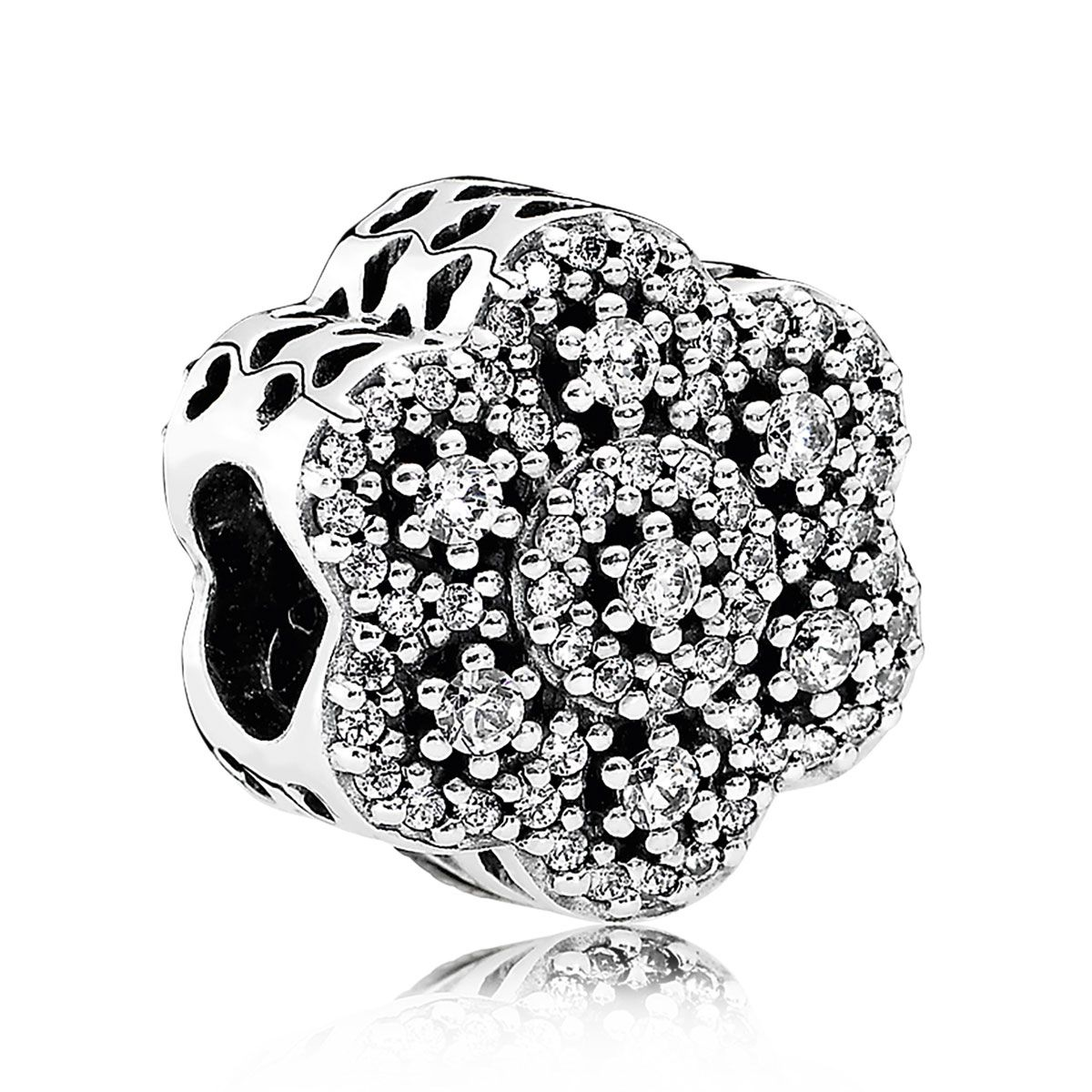 7e4a5d83680b5 PANDORA Crystalized Floral, Clear CZ Charm   daisies in 2019 ...