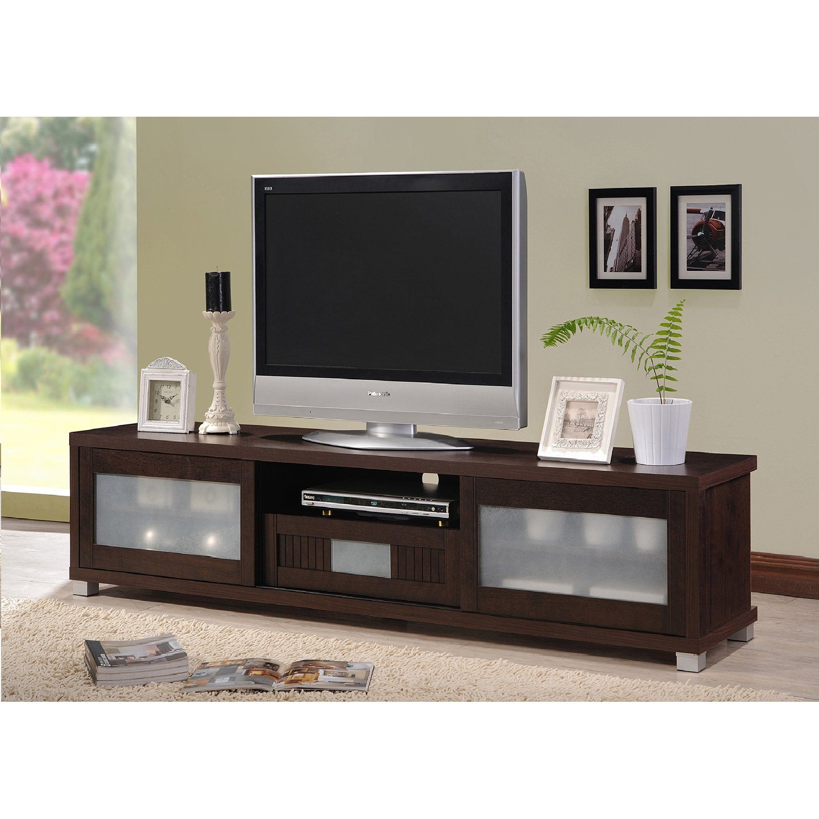 Baxton studio gerhardine in tv cabinet espresso tv