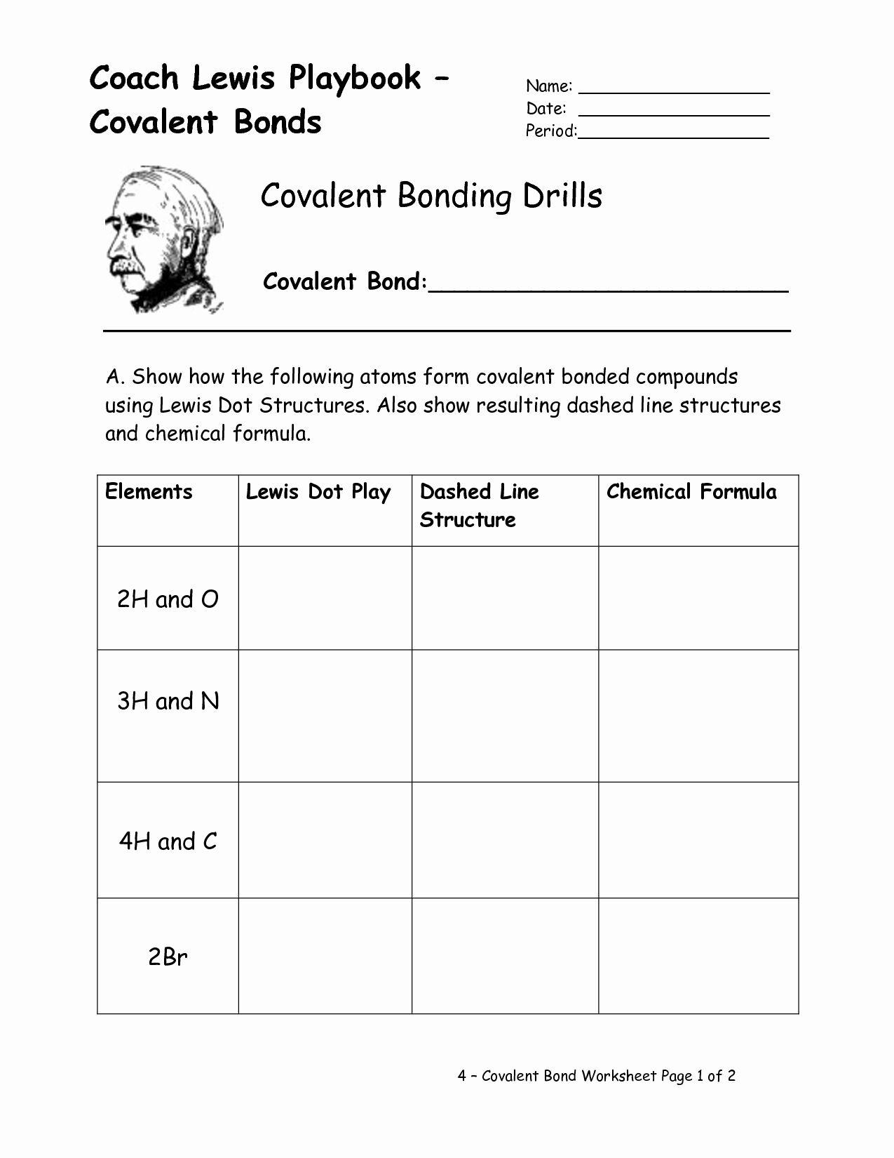 Chemical Bonding Worksheet Key Elegant 16 Best Of Types