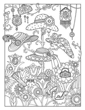 Fanciful Fashions Coloring Books Fashion Coloring Book Coloring Pages