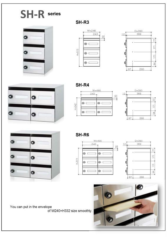 Apartment Building Mailbox Commercial Mail Box Horizontal Letterbox
