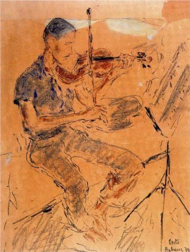 Leonel Alberú playing the violin - Arturo Souto