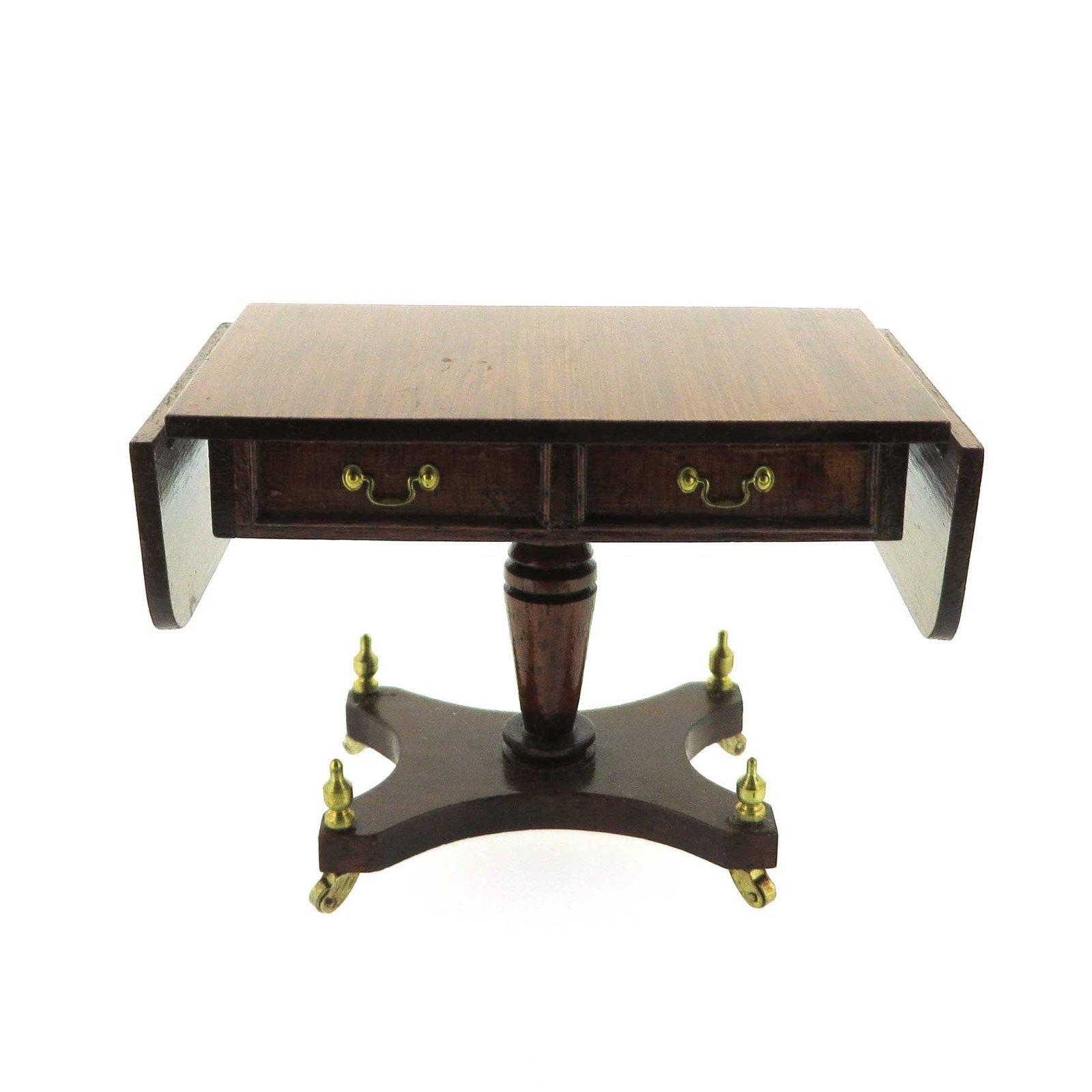 UK Artisan Roy Sherwood's Signed Mahogany Sofa Table