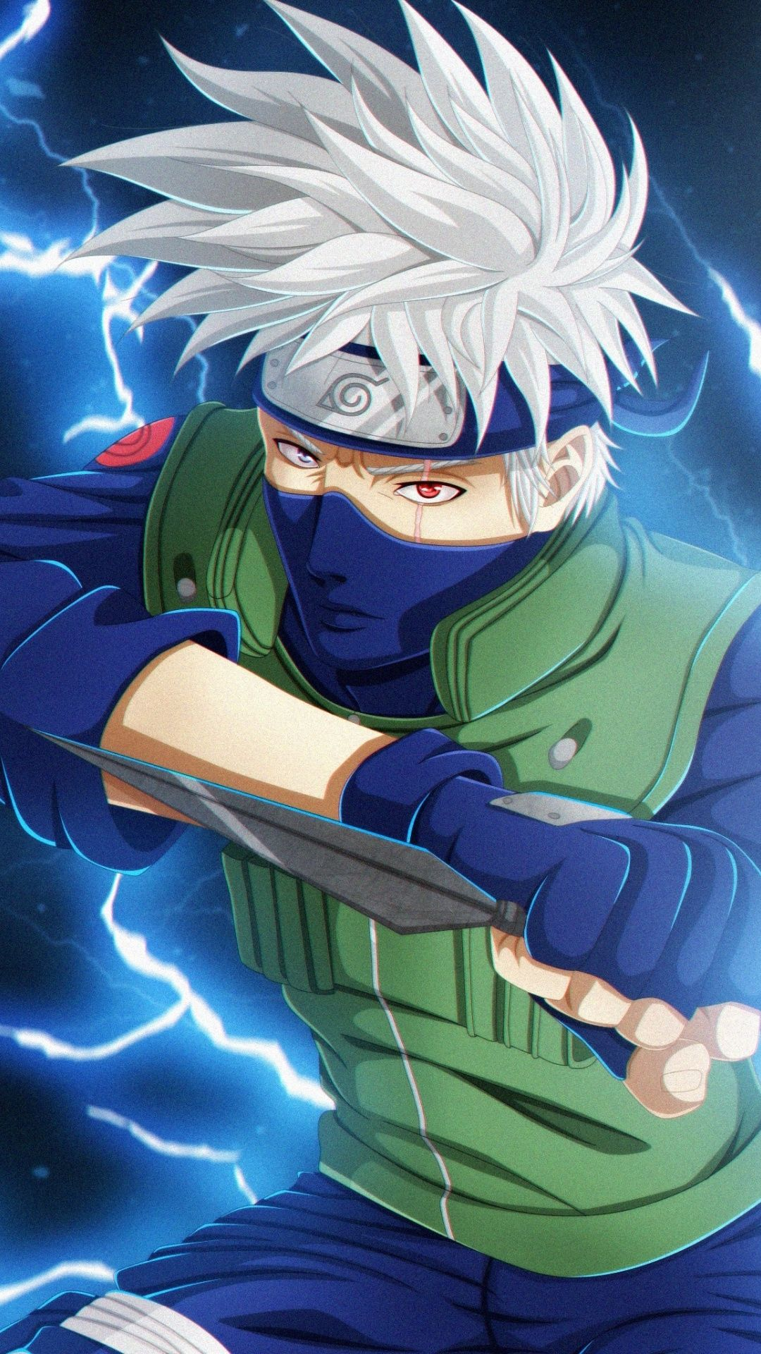 Anime, Kakashi Hatake, white hair, anime boy, art