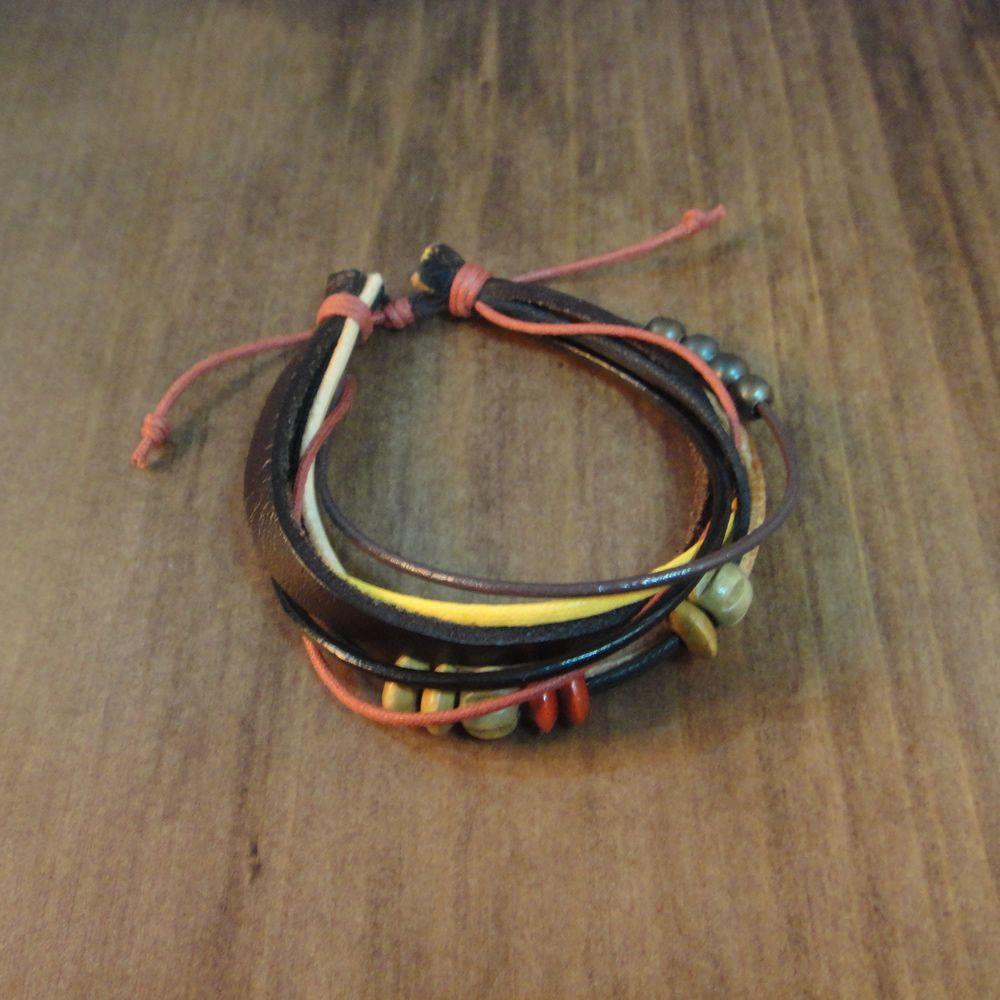 Foto de pulseiras masculinas em couro e cordão pesquisa google