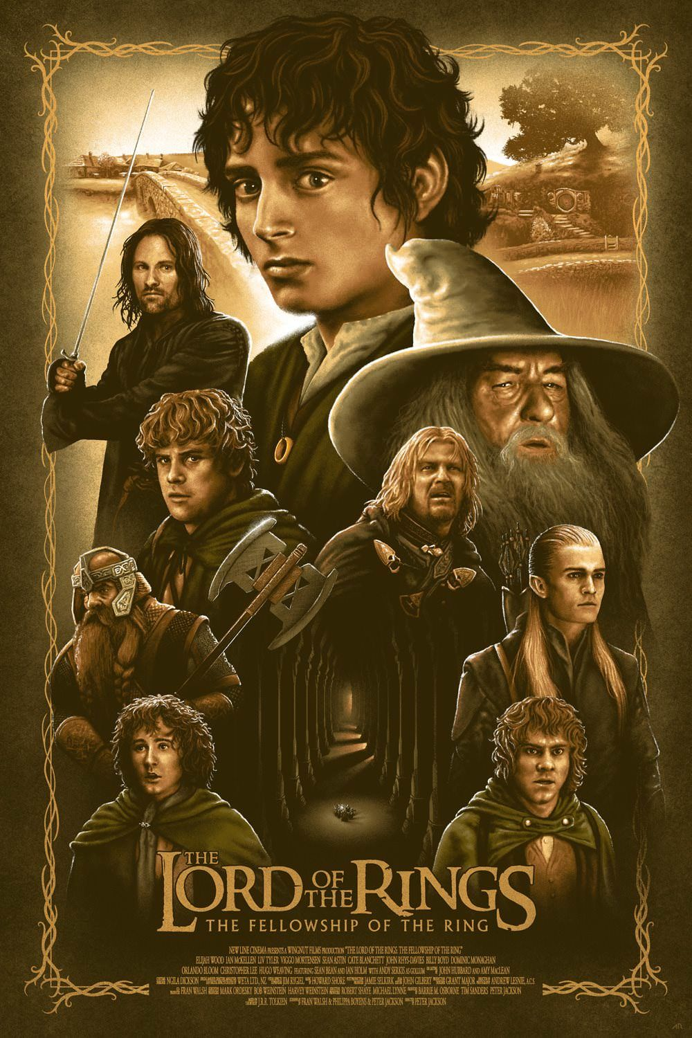 The Lord Of The Rings The Fellowship Of The Ring 2001 1000 X 1500 Fellowship Of The Ring The Hobbit Movies Lord Of The Rings