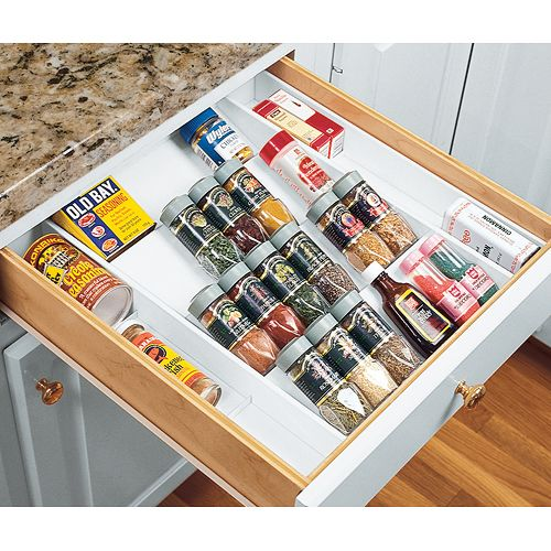 Kitchen Drawer Spice Organizers Organize your kitchen counters and drawers by using this spice expand a drawer spice organizer workwithnaturefo