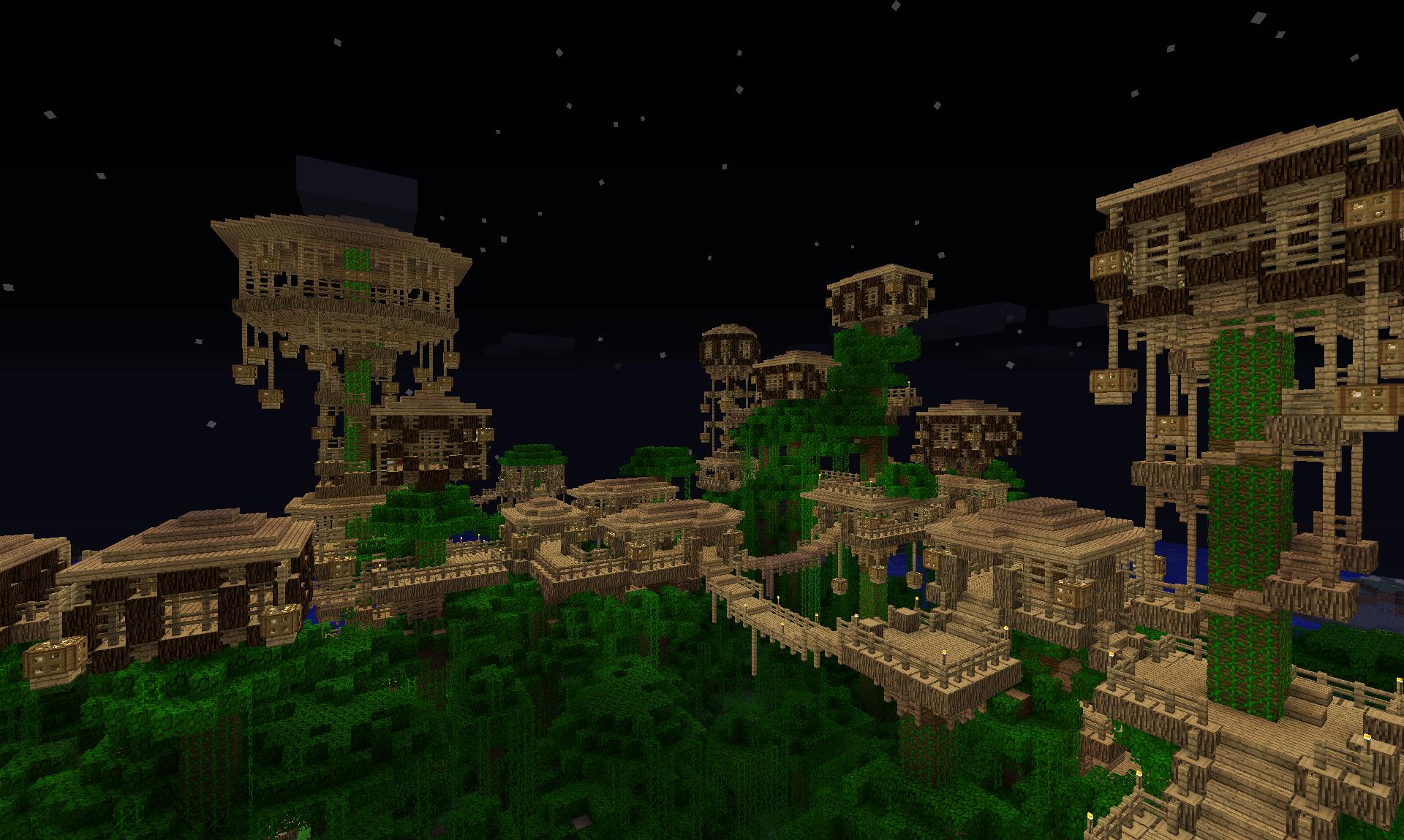 Jungle Tree Village Dschungelhaus Minecraft Projekte Minecraft