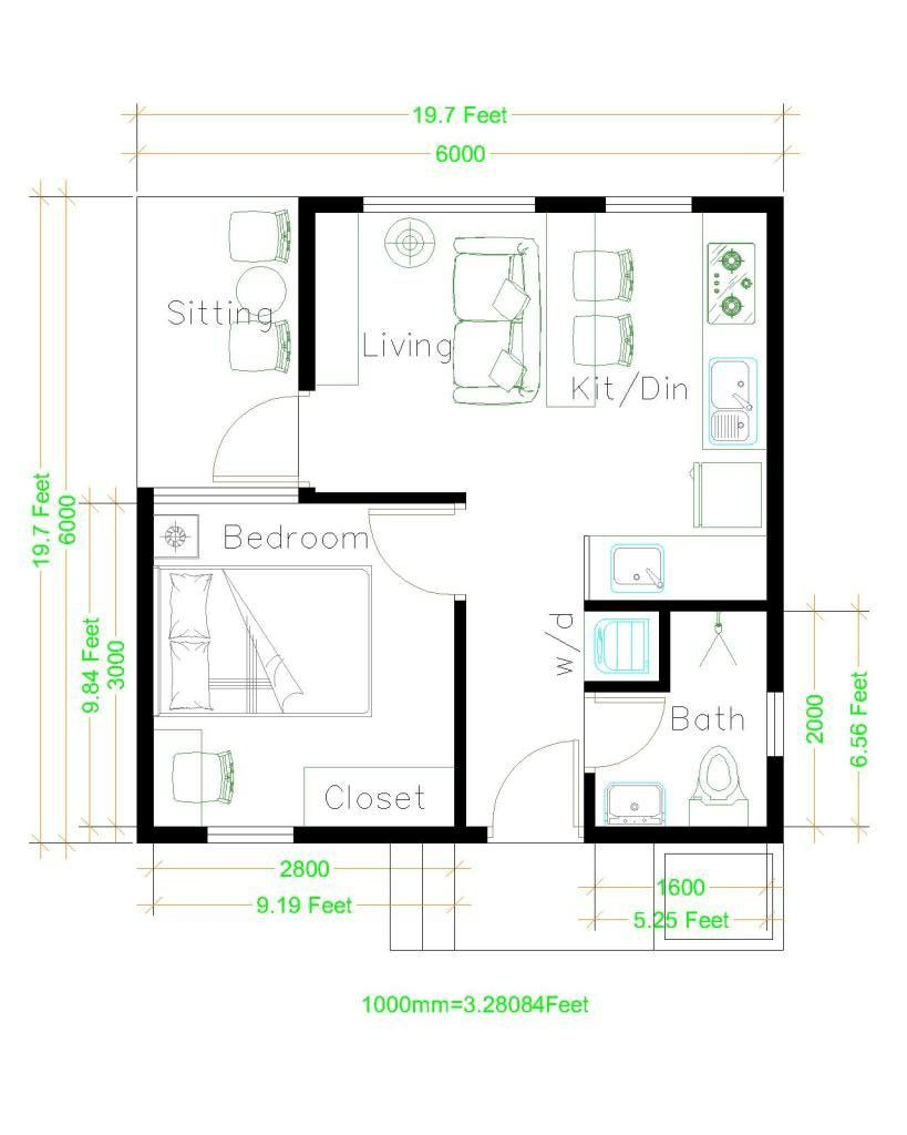 Beautiful Tiny House Plan Ideas For Your Inspiration To See More Read It In 2020 One Bedroom House Plans Tiny House Design Small House Plans