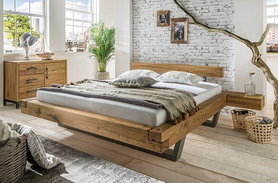Schwebebett  - schlafzimmer eiche