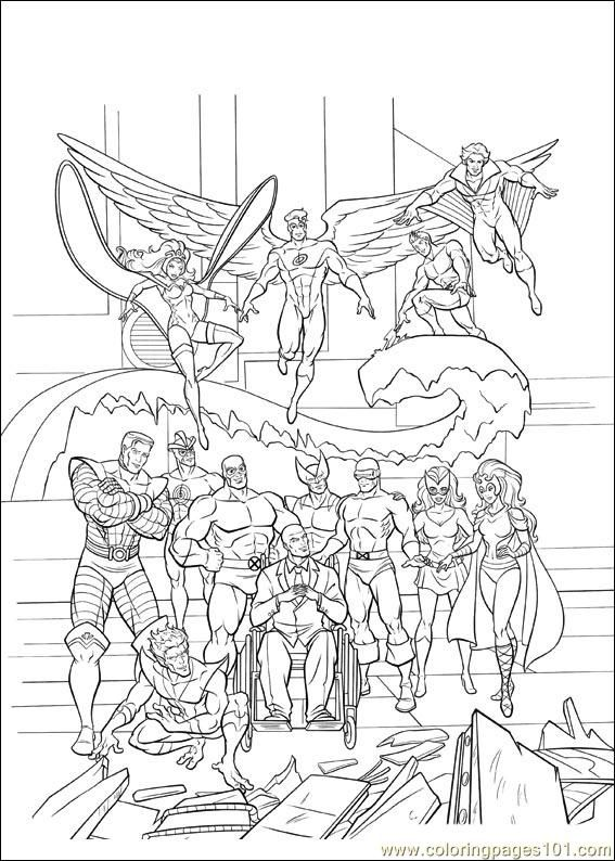 Xmen 36 Coloring Books Coloring Pages Mermaid Coloring Pages