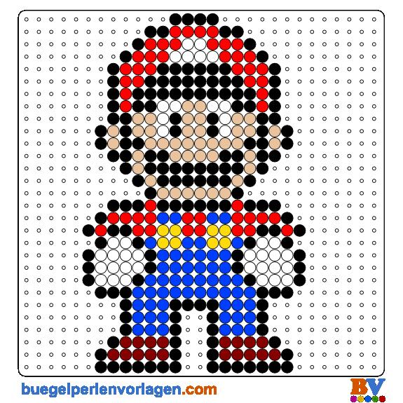 Bügelperlen Vorlage Mario | Strick Muster neu | Pinterest | Punto de ...
