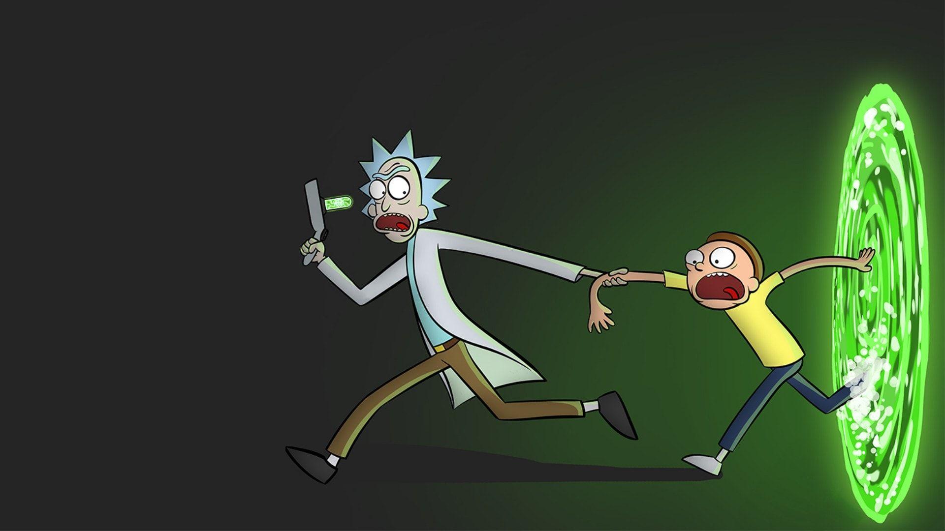 Rick And Morty Portal Tv Show Hd Wallpaper Morty Smith Cartoon Wallpaper Rick And Morty Season Rick and morty green portal wallpaper