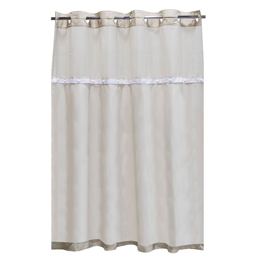 Hookless It S A Snap Fabric Shower Curtain Liner Fabric Shower