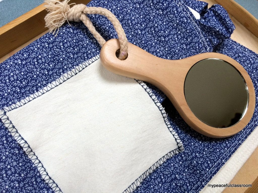 Child S Floral Apron And Organic Polishing Cloth Set By