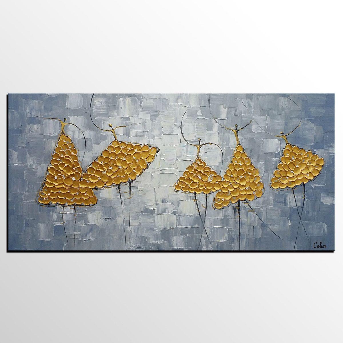 Dancer art ballet bedroom wall art canvas modern art painting on