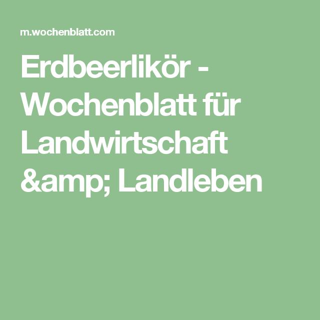 Erdbeerlikör - Wochenblatt für Landwirtschaft & Landleben