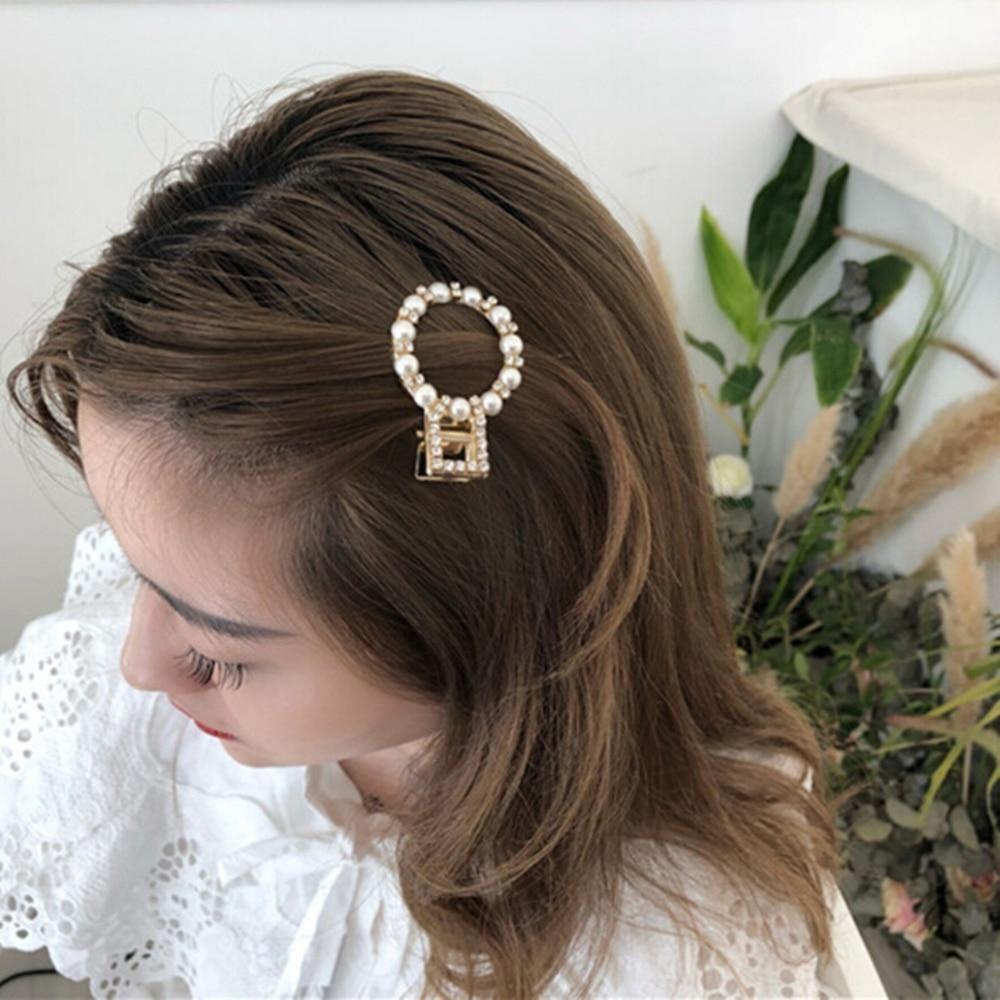 11 PC Pearls Hair Clips Women Sweet Korean Style Hairpins Alloy BB
