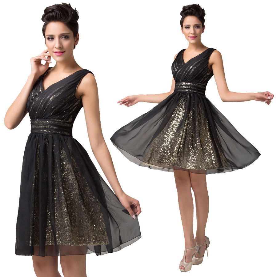 Sexy v neck short homecoming sequins prom dress bridesmaids cocktail