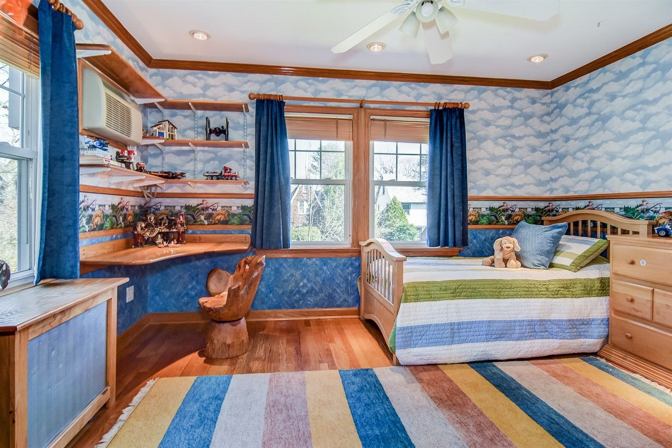 kids room of quintessential slate roofed center hall colonial of 12 mitchell place glen