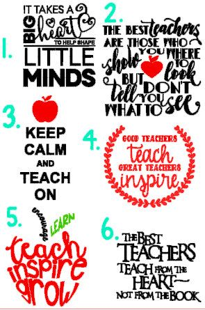 Teacher quote decals teacher gifts teacher by handmadedecalsbyhl