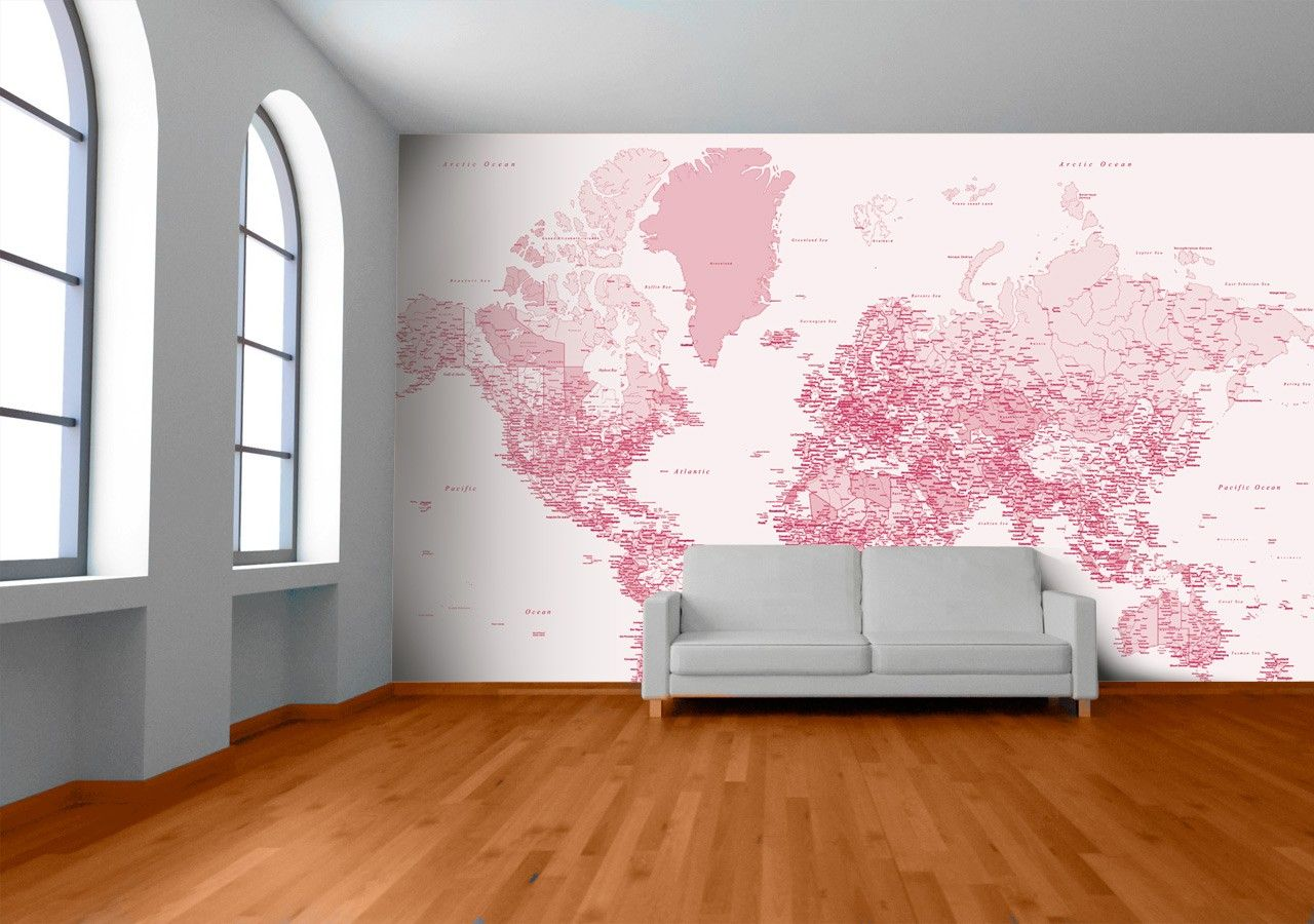 Redpink world map by welk available from wallpapered stuff redpink world map by welk available from wallpapered gumiabroncs Image collections