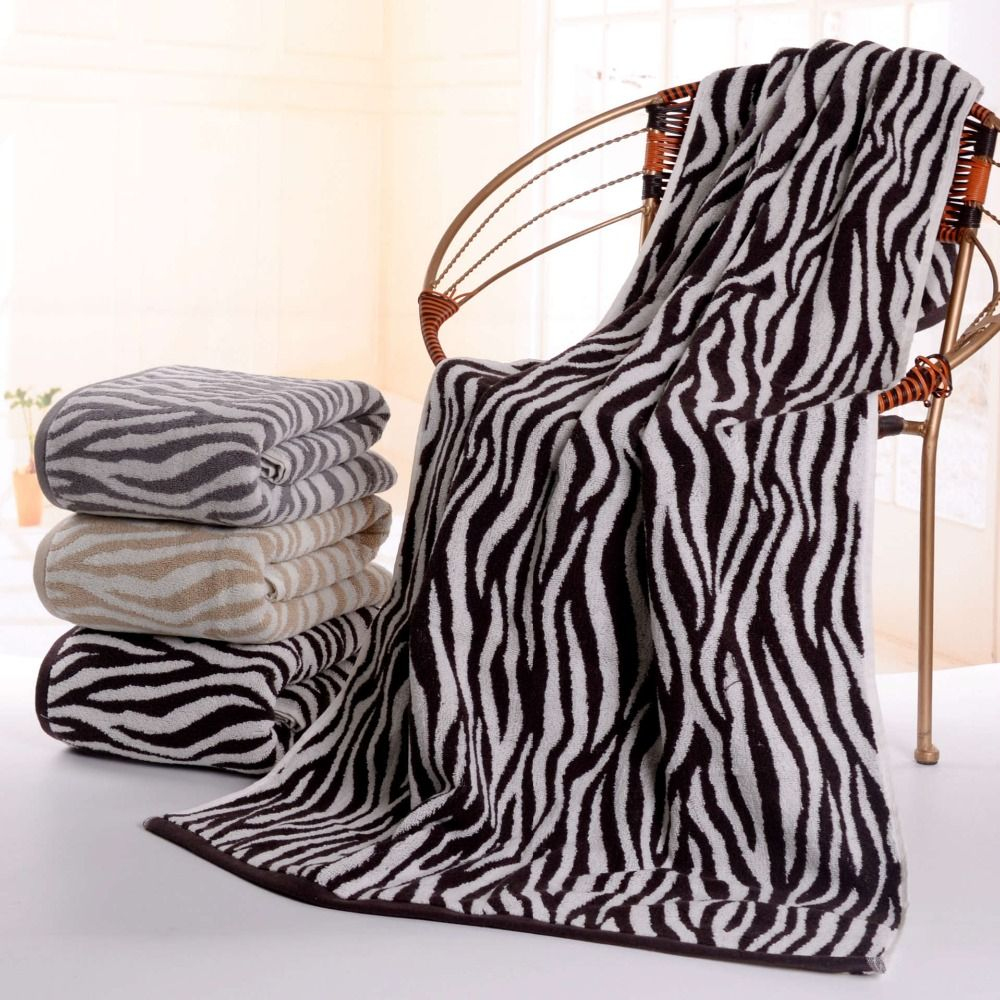 Bath Towels In Bulk Mesmerizing Classic Zebra Stripe Bath Beach Towel 70*140Cm 100% Cotton Soft Big Inspiration