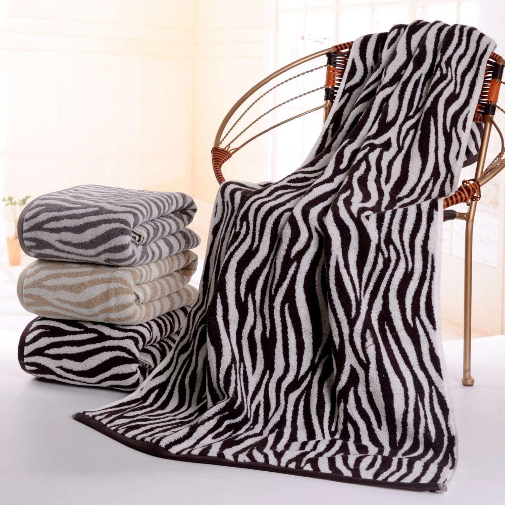 Bath Towels In Bulk Classic Zebra Stripe Bath Beach Towel 70*140Cm 100% Cotton Soft Big