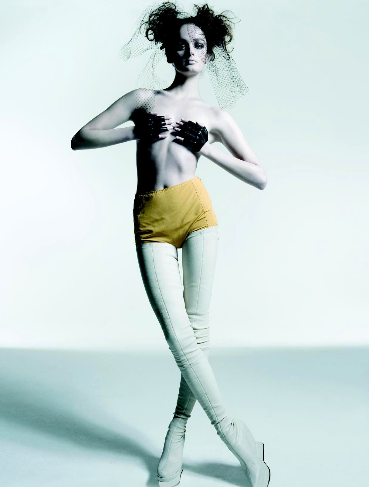 30b7513350c Boot Fashion: Lisa Cant in Maison Martin Margiela Crotch High Boots ...