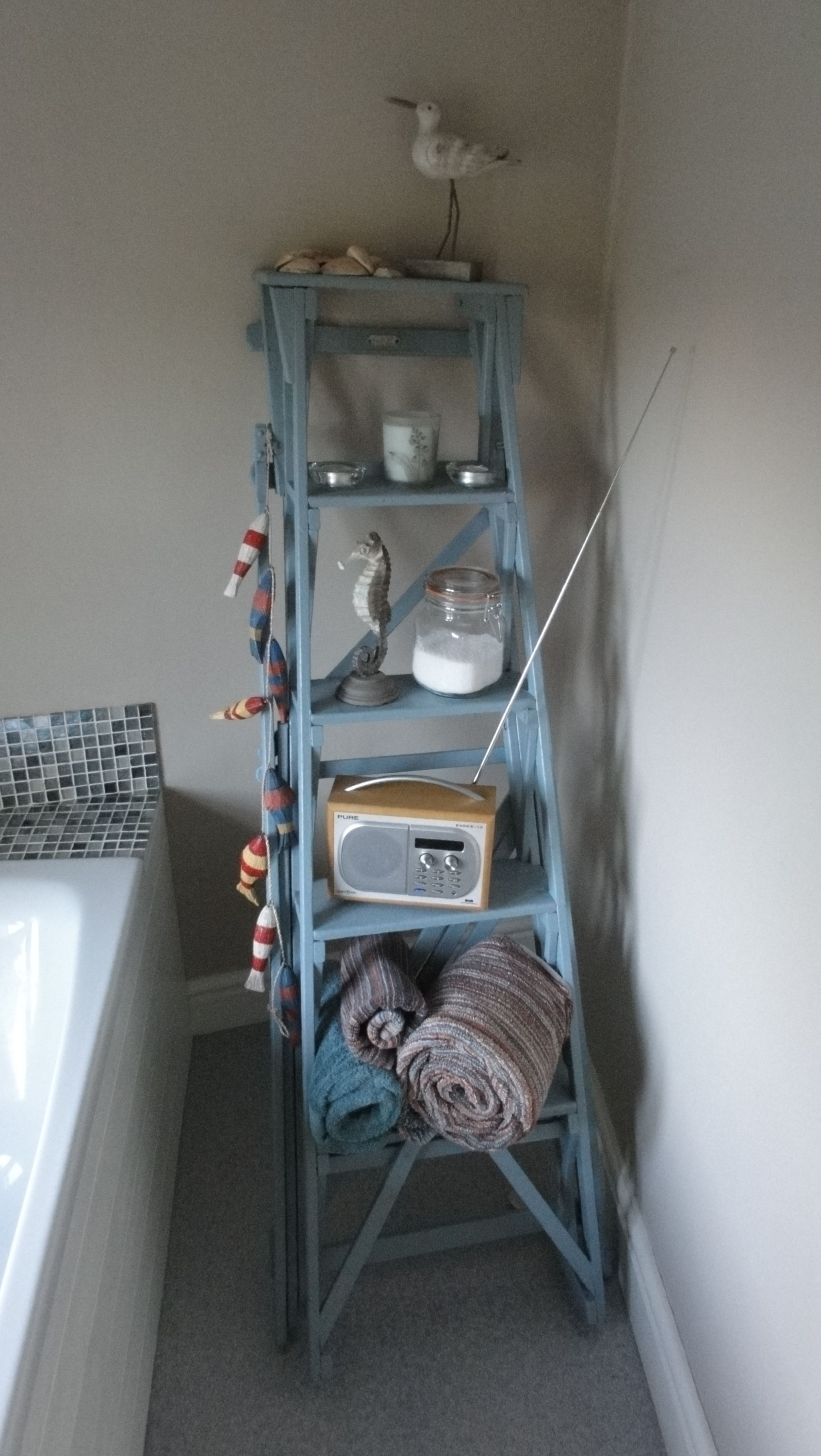 The finished item, now a bathroom feature