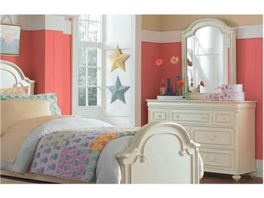 Shop+for+Legacy+Classic+Kids+Dresser+With+Mirror,+3850-1100-0200,+and+other+Youth+Bedroom+Bedroom+Sets+at+Union+Furniture+in+Union,Missouri.+The+Charlotte+Dresser+features+seven+drawers+to+keep+the+Princess+room+tidy.+Complete+the+look+and+keep+her+looking+well+dressed+with+the+Charlotte+Arched+Mirror+with+a+beveled+edge+for+a+bit+of+sparkle.