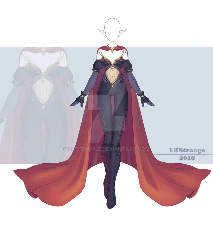 Close Adoptable Outfit Auction 242 By Lifstrange On Deviantart In 2020 Anime Dress Outfits Anime Outfits