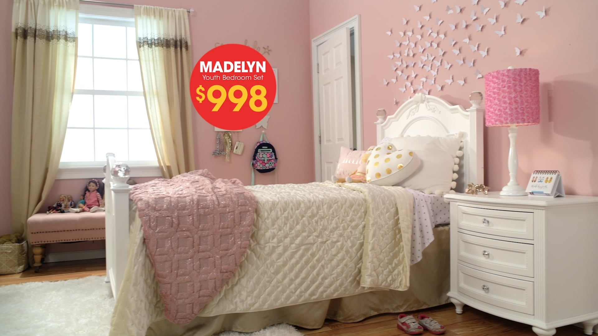 Madelyn Youth Bedroom Set Mattress sets, Bed, Twin bed