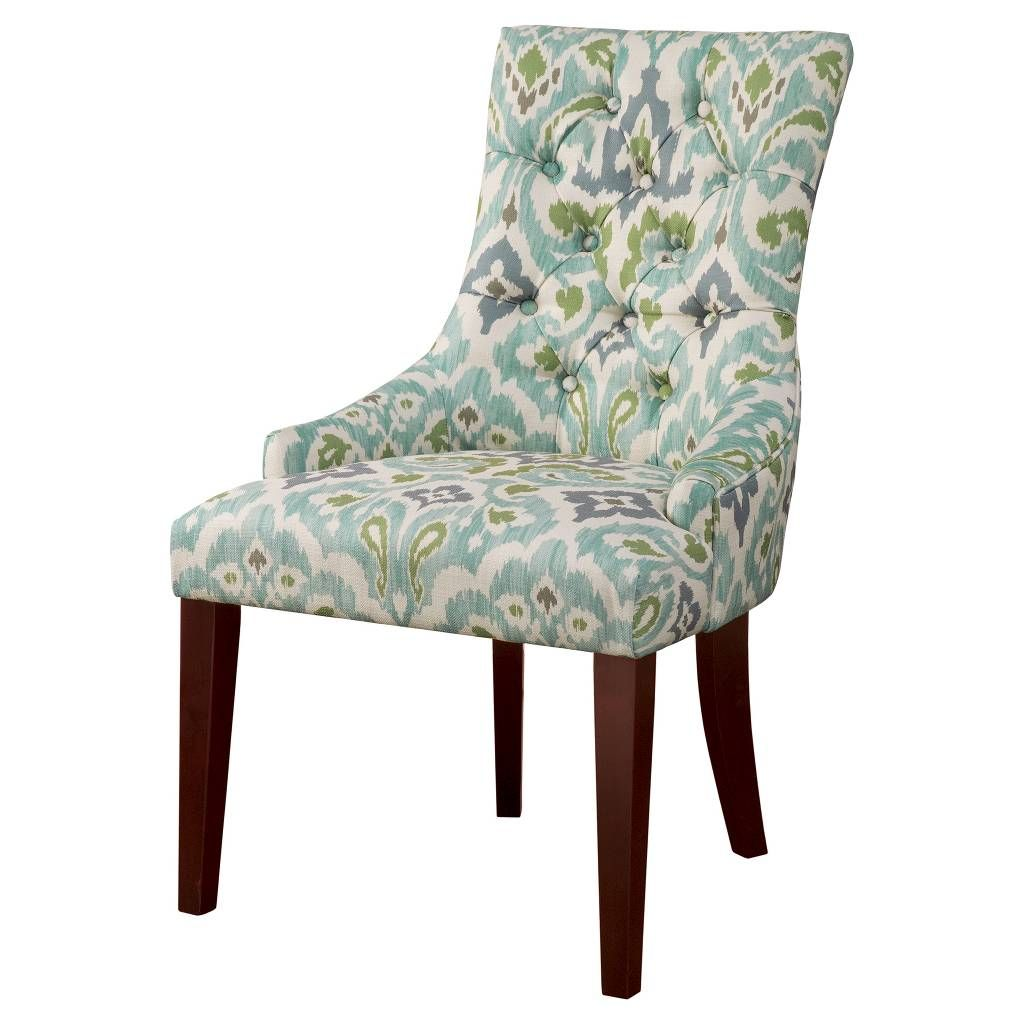 Finn Tufted Back Dining Chair - Blue/Green (Set of 2 ...