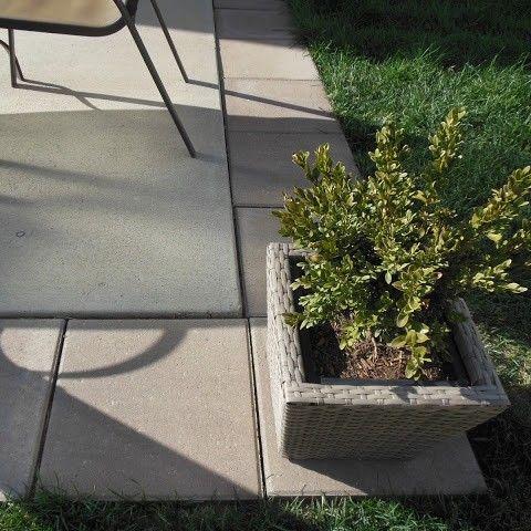diy patio expansion add 16x16 pavers
