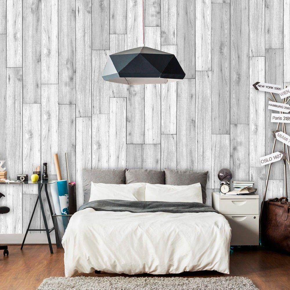 Papier Peint Imitation Bois Gris Blanchi Paredes Rusticas De Madera Redecorar Habitacion Decoracion Hogar