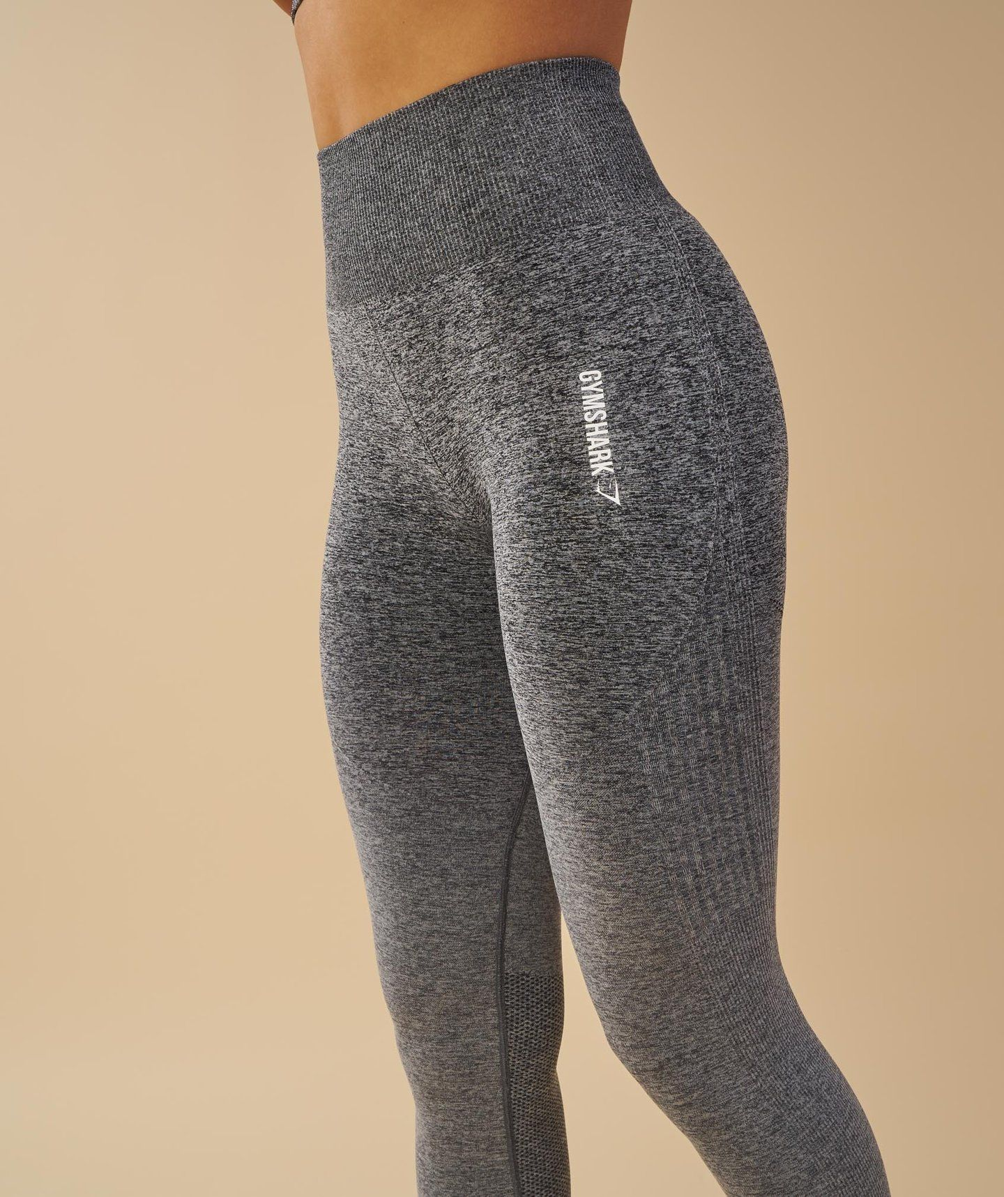 92b811fd79243 kortneyjameson.com Gymshark Ombre Seamless Leggings - Black/Light Grey 1