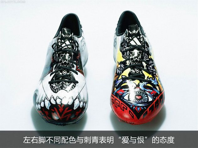 adidas F50 AdiZero Tattoo Love Hate Messi Soccer Boots Black White Multicolo 1d58ffa255