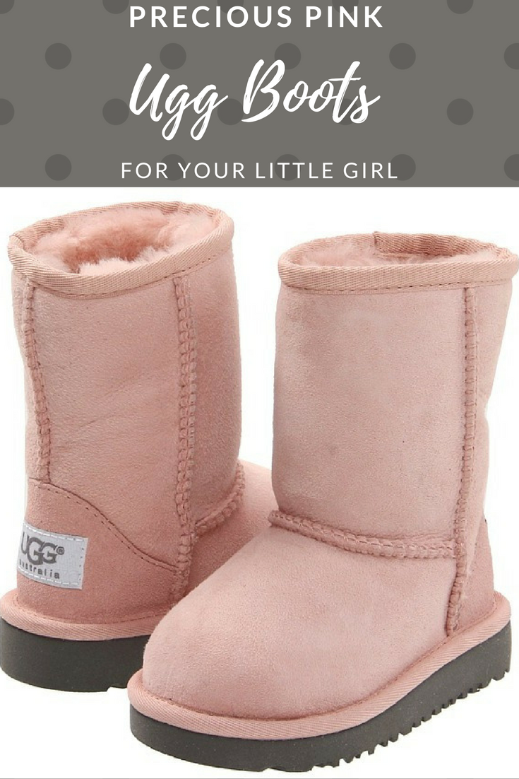 Pretty in Pink! Pink ugg boots for baby girls. #uggboots #uggs #pinkuggs