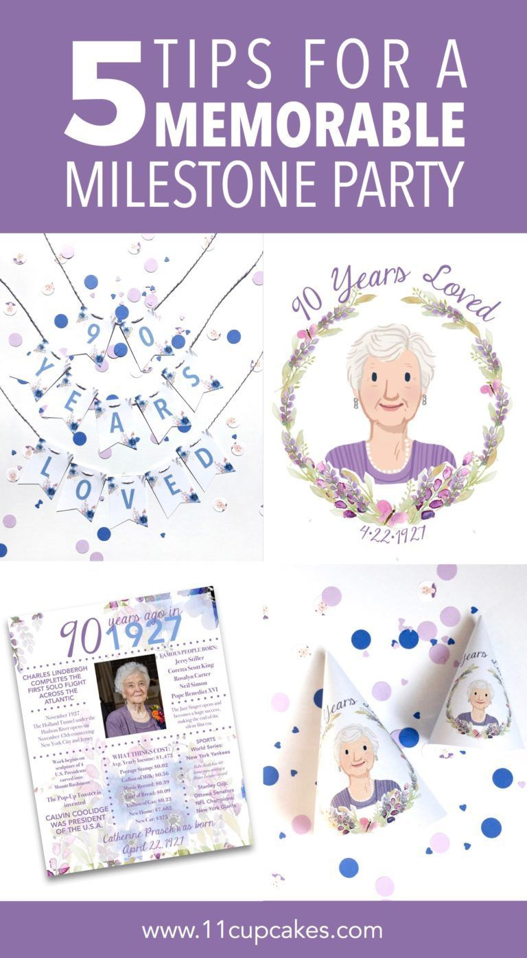 Milestone Birthday Party Ideas For Grandmas 90th With Games Decorations Food And Gifts Birthdaygifts