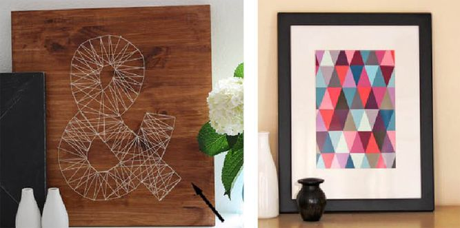 Good Easy, Inexpensive DIY Wall Art Ideas