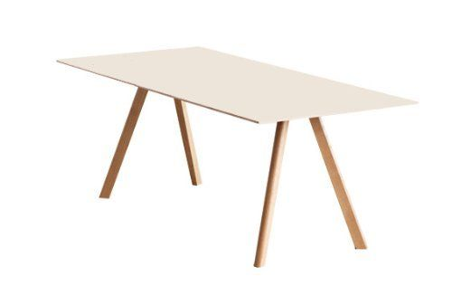 Hay Copenhague Table 30 200 X 80 Cm Gestell Klar Lackiert